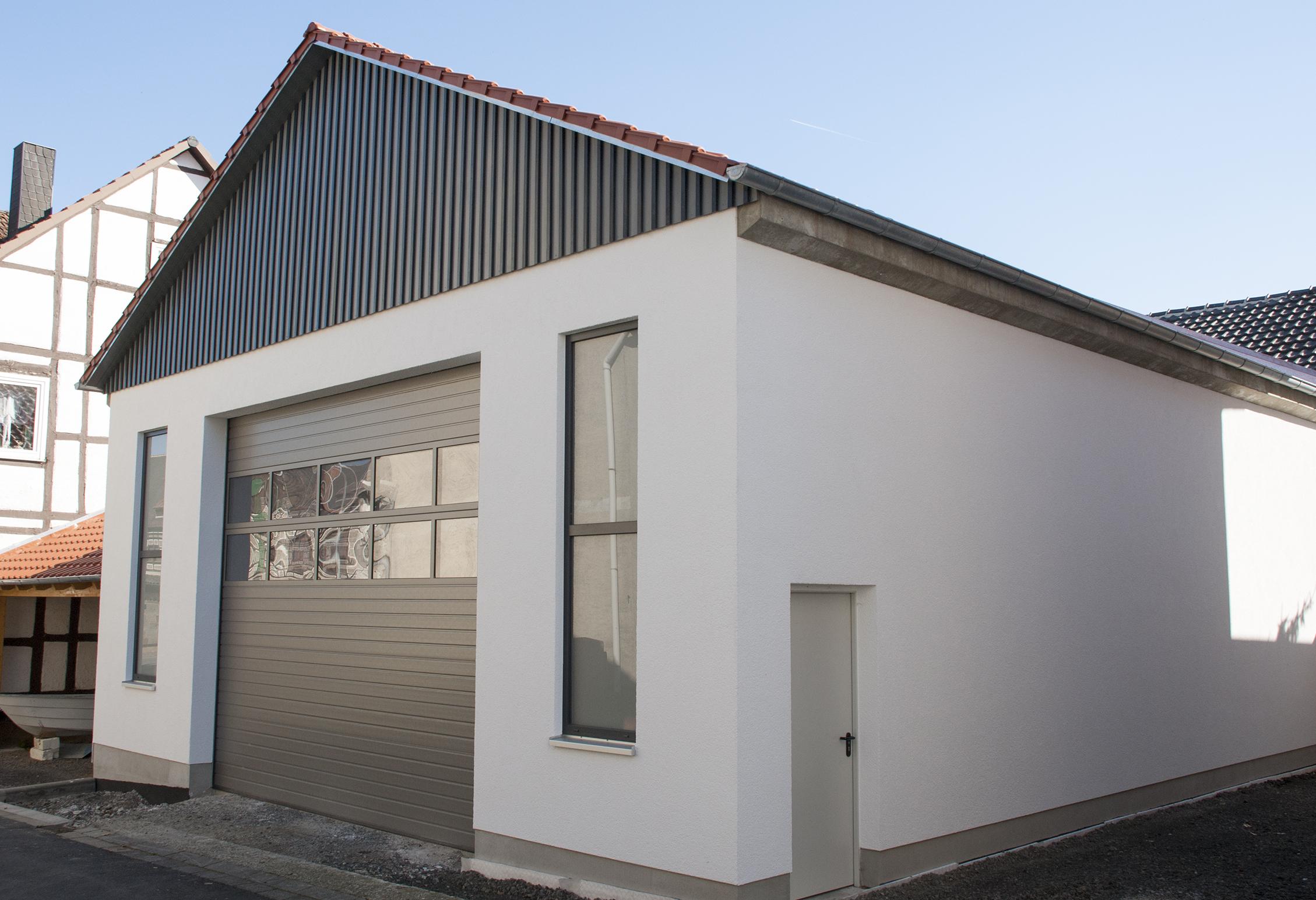 Rohbau Firmenhalle in Niedermöllrich